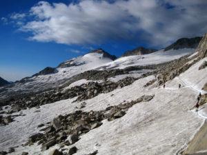 Glaciar del Aneto en julio