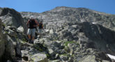 Terreno pedregoso en la Cresta de los Portillones, camino del Aneto