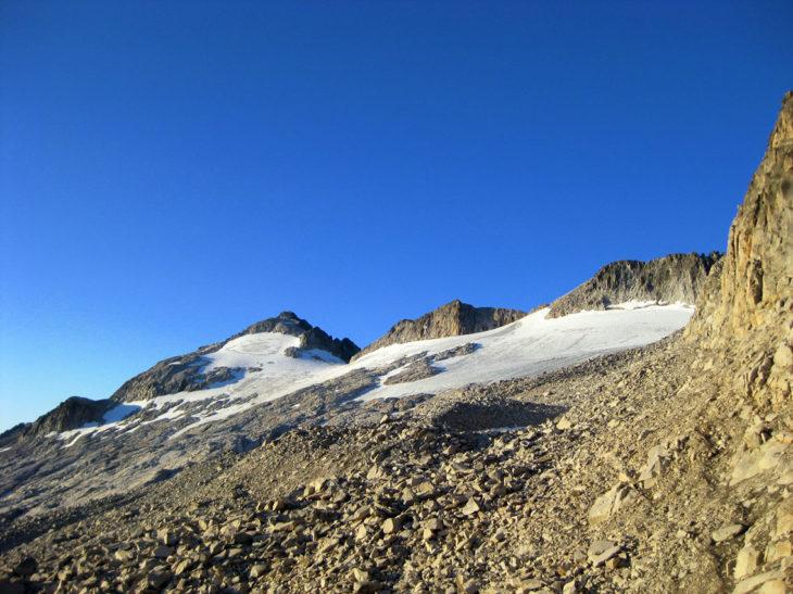 Glaciar del Aneto en agosto