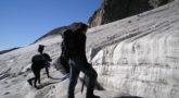 Grieta en glaciar del Aneto