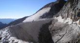 Rimaya en el glaciar del Aneto