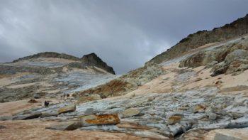 Aspecto del Glaciar del Aneto el 9/8/2017
