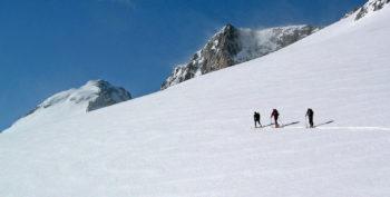 Aneto con esquís. Jorge García-Dihinx.